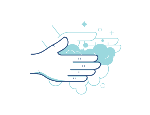 Waschen Sie Ihre Hände bevor sie Ihre Kontaktlinsen auf- oder absetzen