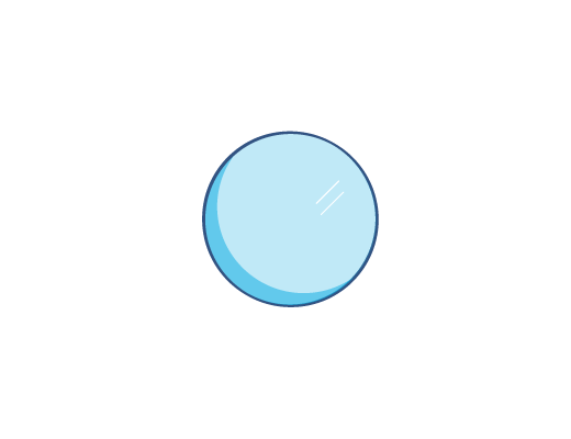 Blau getönte ACUVUE®-Kontaktlinse